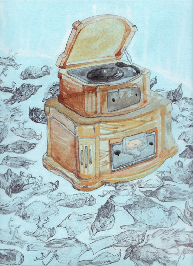 dead birds and record players