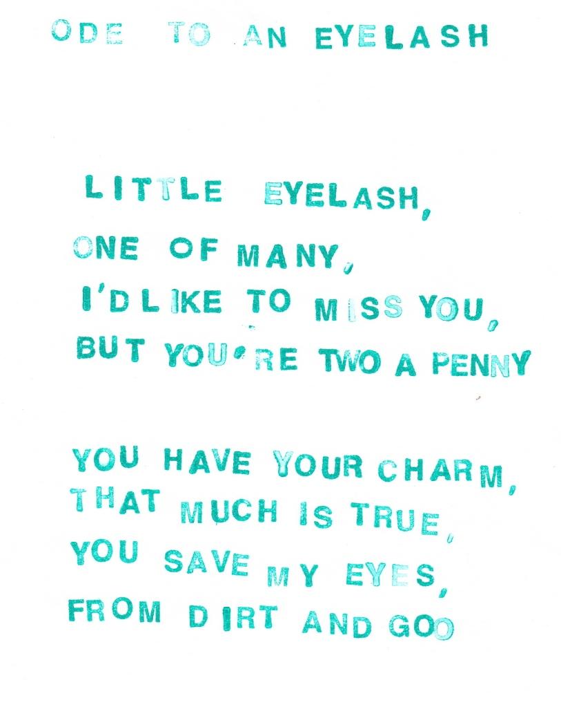 eyelash poem